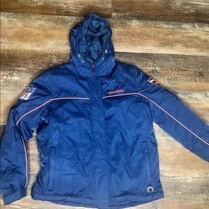 NFL Denver Broncos Blue Puffer Down Feather coat